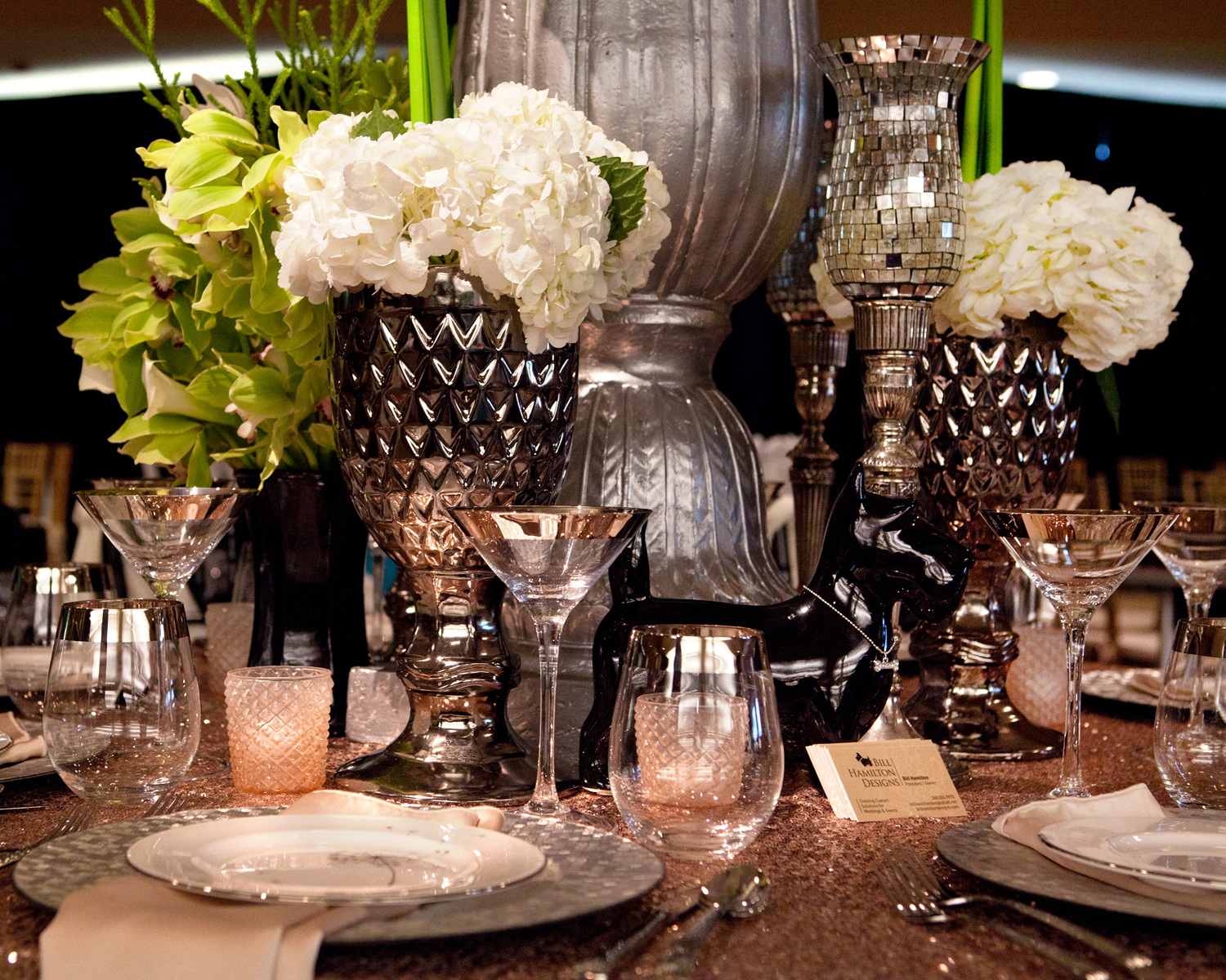 Bill Hamilton Designs creates tablescape for Cleary University